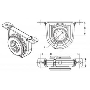 DODGE Charger//Magnum 30mm x 189mm Propshaft Centre Bearing for CHRYSLER 300C
